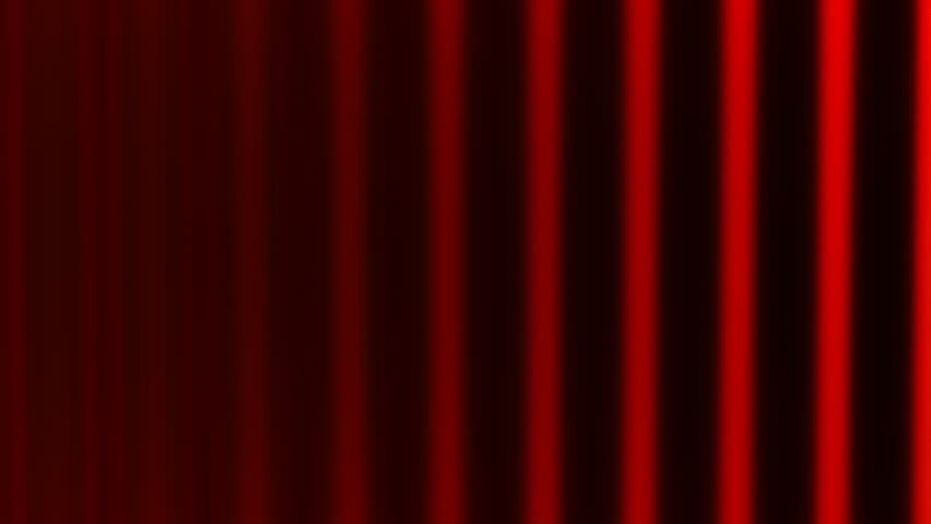 Cutting red curtain  CG animation intro with alpha matte