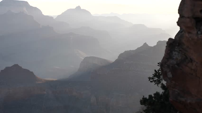 Ooh Aah pointview at Grand Canyon during sunrise