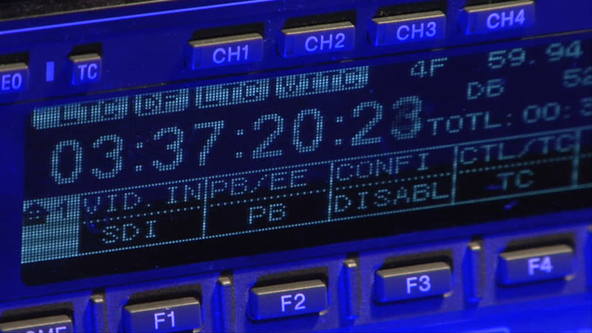LDC control panel of an HDCam Tape Deck. This deck is used for high-end video