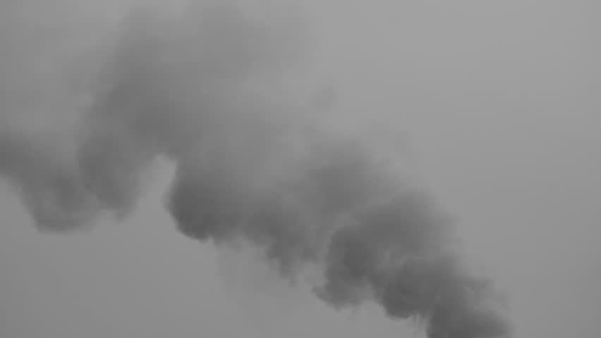 4k Video of global environment problem from smoke pollution from factory