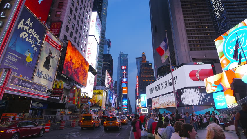 NEW YORK CITY - JUNE 9: Time lapse evening view on Times Square on June 9th, 2015 in New York City. Times Square has become an iconic symbol of New York City and the United States. | Shutterstock HD Video #10354955