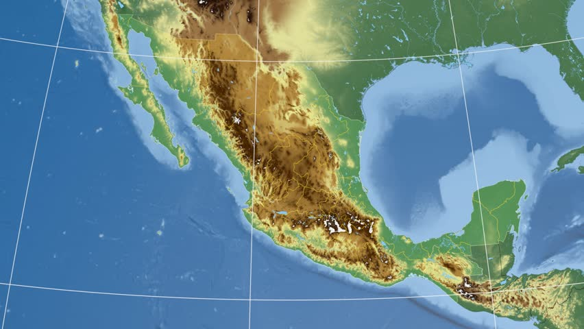 Jalisco State Extruded On The Physical Map Of Mexico Rivers And – Geographical Map of Mexico