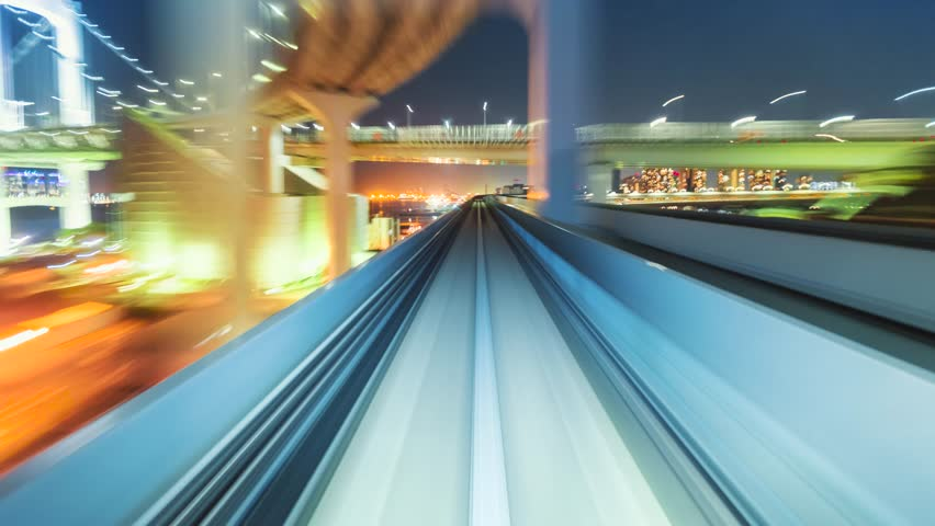 Point of view time-lapse through Tokyo via the automated guideway transit system (AGT) called the Yurikamome. Full ride at night. Shot in 5.7K and down-scaled to 4K for extra sharp resolution.