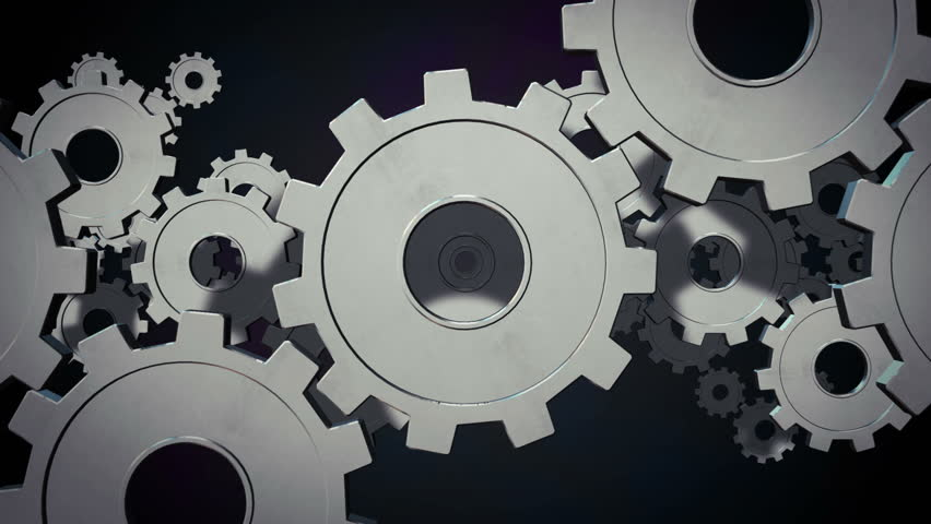 Mechanical Engineering Background Animation. Stock Footage ...