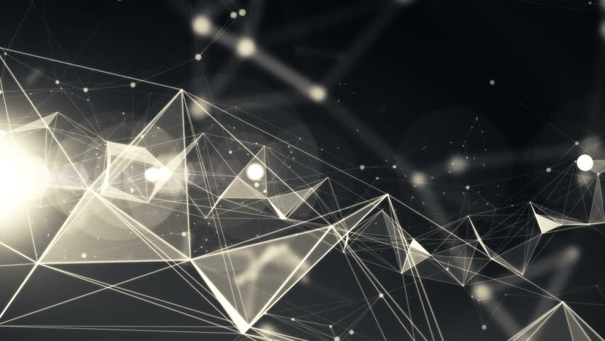 4k Technology Abstract Animation Background Seamless Loop. Black Color