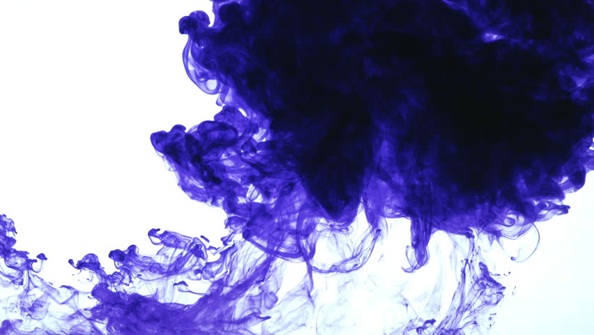Diffusion of color in water with bursts which create magical abstract images. Vertically covers full screen.