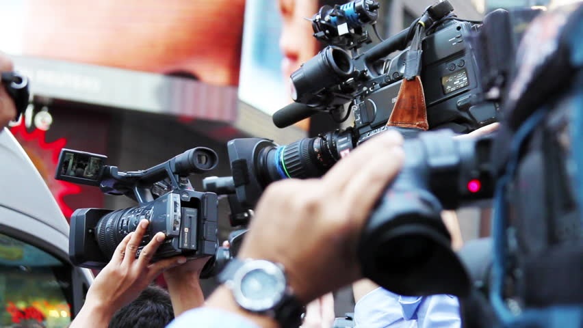Paparazzis and Media Reporters Celebrity Breaking News HD | Shutterstock Video #10972757