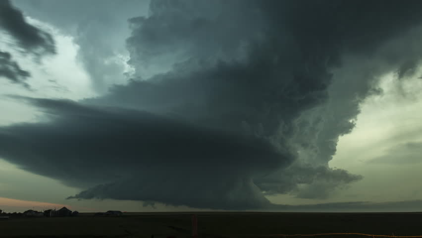 Time-lapse video of an intense rotating supercell...