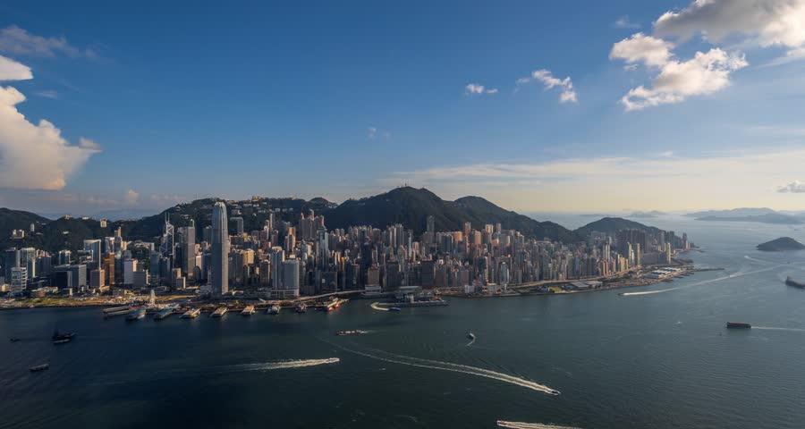 4K Timelapse Movie of Hong Kong Skyline | Shutterstock HD Video #11174150