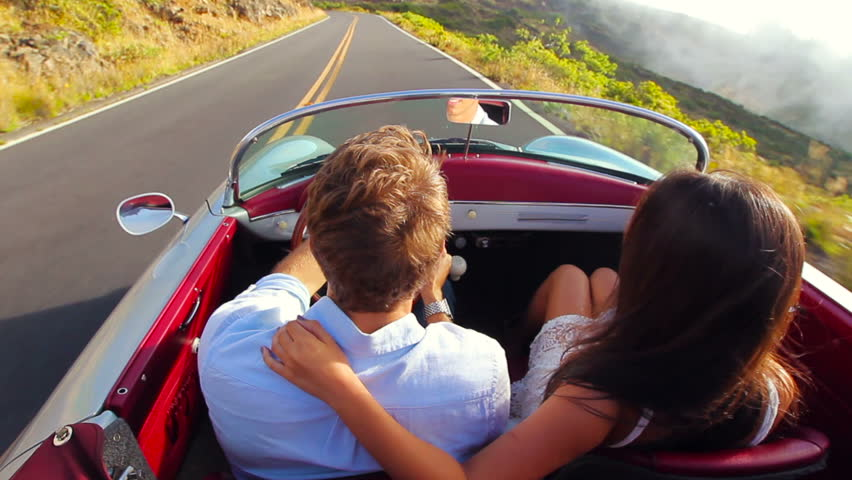Image result for happy couple driving in car