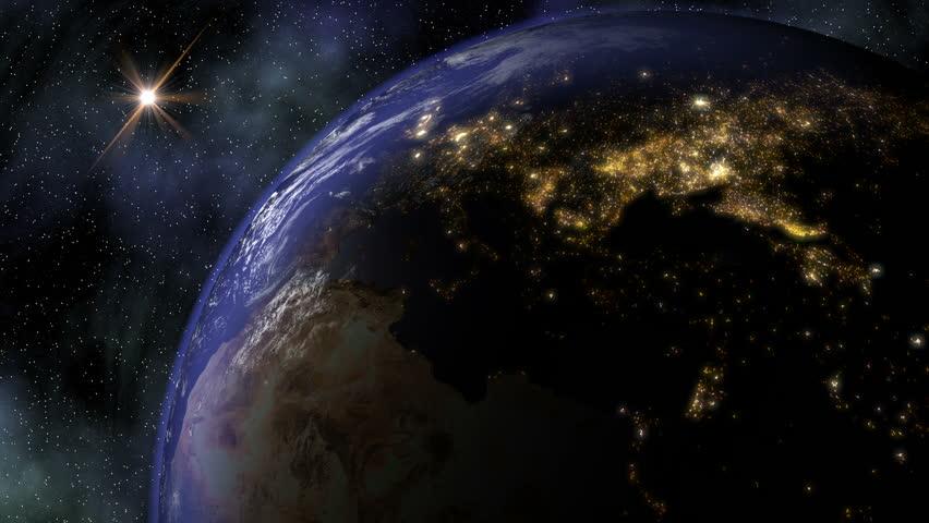night light footprint north america nasa - photo #31