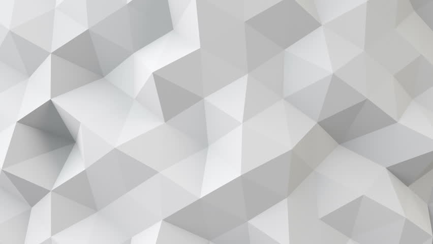 white polygonal geometric surface. computer generated seamless loop abstract motion background. 4k UHD (3840x2160)