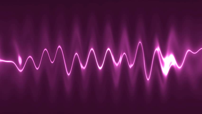 Abstract Background Blue High-tech Waveform. Audio ...