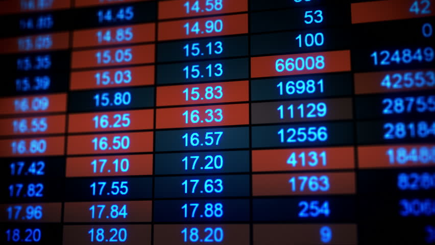 Stock market quotes. Computer generated seamless loop animation. 4k (4096x2304)    Shutterstock HD Video #11409635