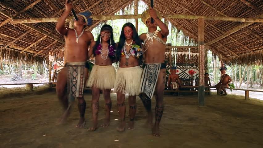 Indian tribe ritual in Amazon, Brazil