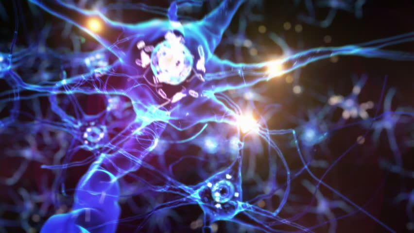 Journey through a neuron cell network inside the brain. Techno Blue. Loopable. Flying across a neuronal network, electric impulses passes by it. Synapse. More options in my portfolio. | Shutterstock HD Video #11744735