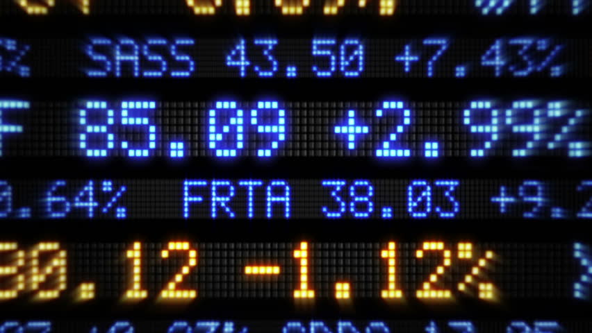 A Fictional Stock Market Ticker Stock Footage Video