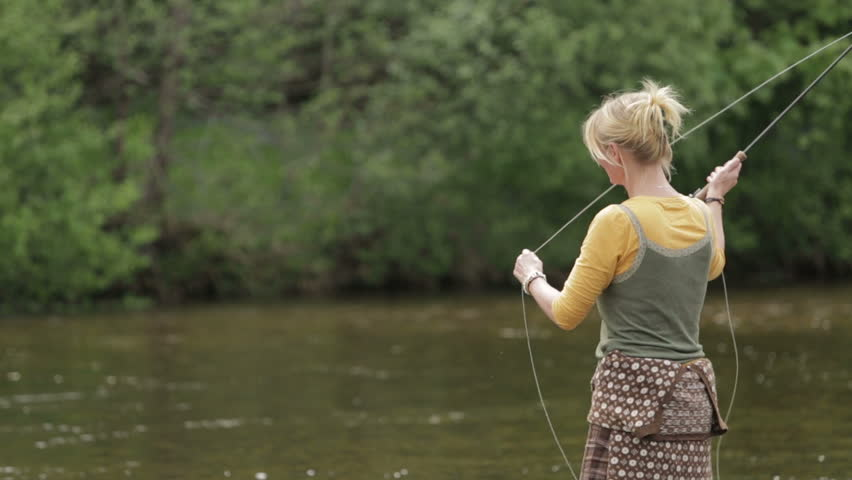 fort william, scotland, june 2014: a female fly fishing on the, Fly Fishing Bait