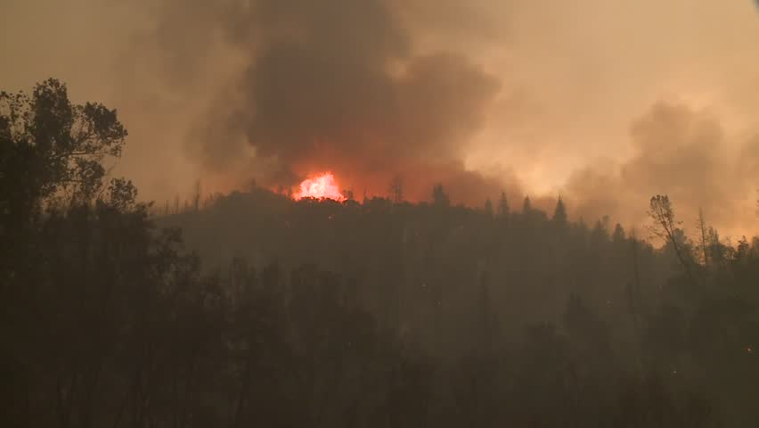 FOREST FIRES OF NORTHERN CALIFORNIA SUMMER 2015 WILD FIRES SMOKE FLAMES FIREFIGHTER CREWS BATTLE THE FIRES DURING THE DRY DROUGHT CONDITIONS HD HIGH DEFINITION STOCK VIDEO FOOTAGE CLIP 1920X1080 | Shutterstock HD Video #11913995