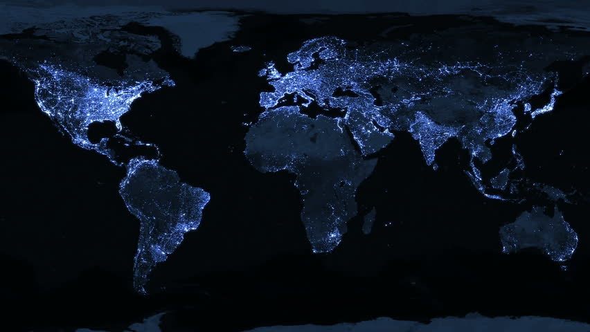 illuminated world map animation animation is looped for continuous playback stock footage video 1194382 shutterstock