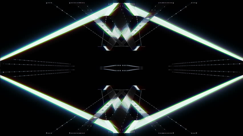 Artificial Lines Tech Style. An endless and seamless loop. Tech Style, lines and dots for a minimal ambientation. A bit of glow and neon effects.  | Shutterstock HD Video #12002945