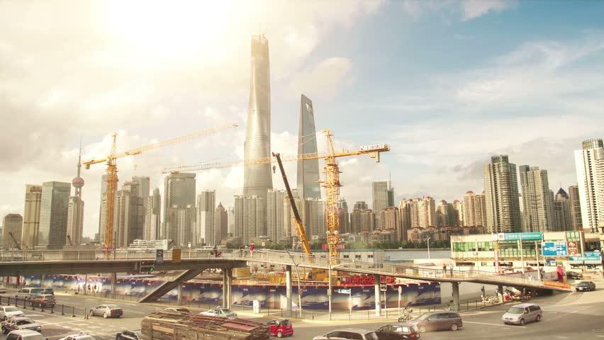 Shanghai Skyscrapers. Construction.TimeLapse...