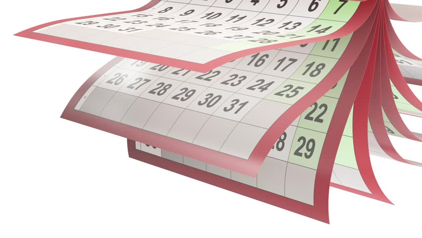 Calendar Pages Turneng In Slow Motion Stock Footage Video 12067742 ...