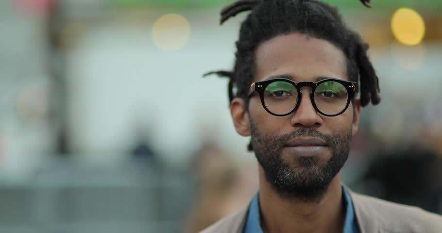 Black African American man portrait face portrait face