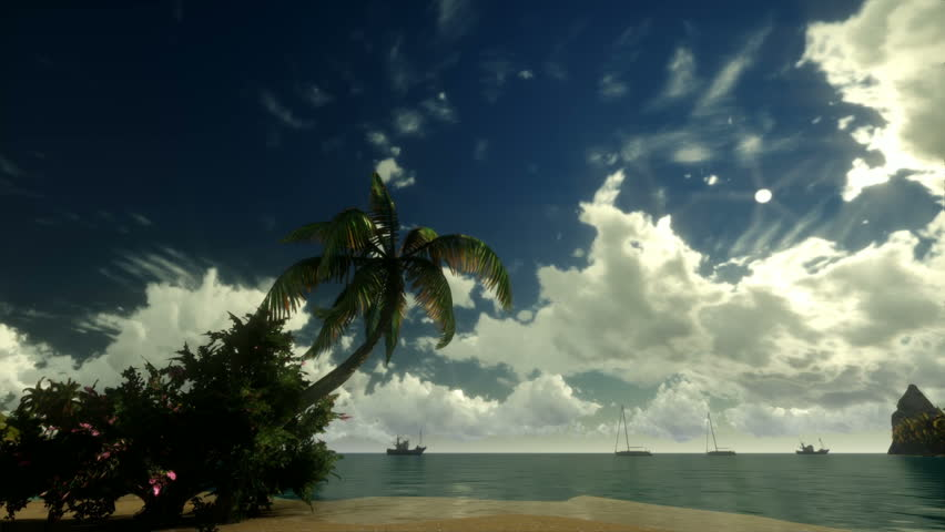 Tropical scene Sunrise Time Lapse