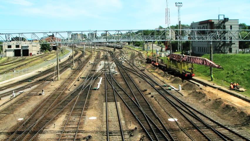 VILNIUS, LITHUANIA - JUNE 14: (Timelapse view) Modern electric double- deck
