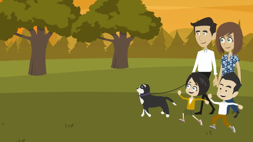 Image result for cartoon images of evening walk