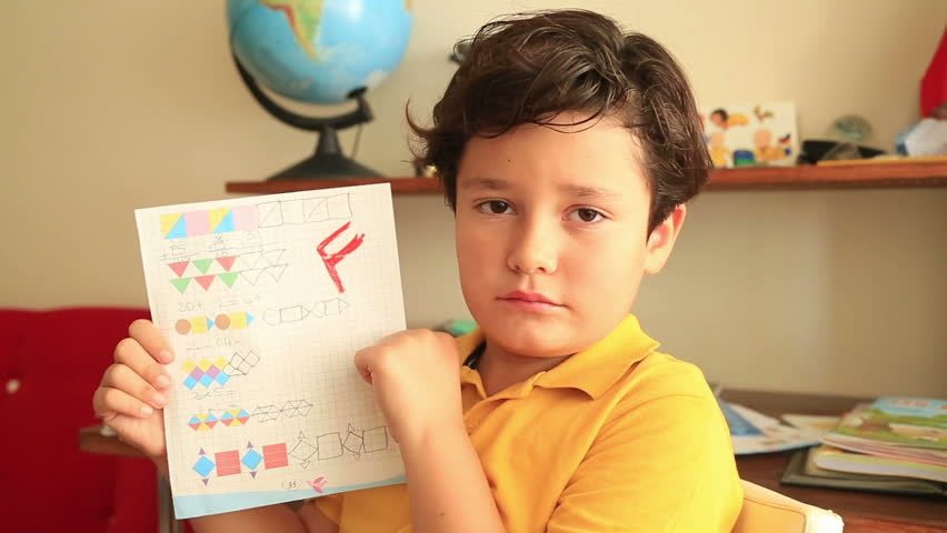 Image result for kid holding failing grade