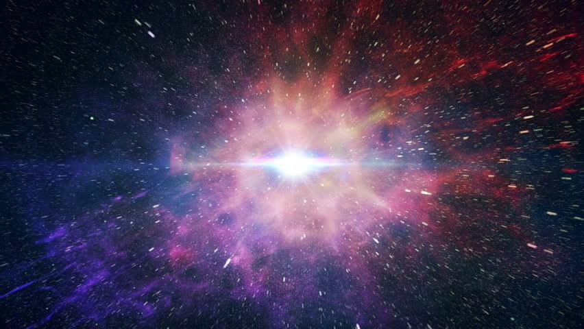 Simulation of Big Bang explosion. | Shutterstock Video #12473717