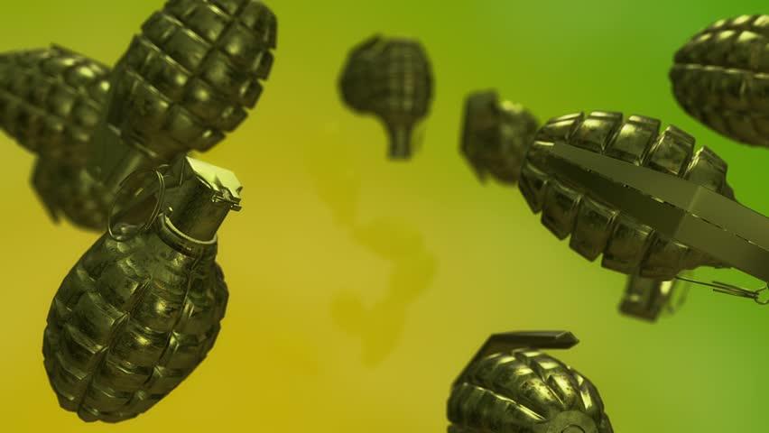 Flying hand grenades