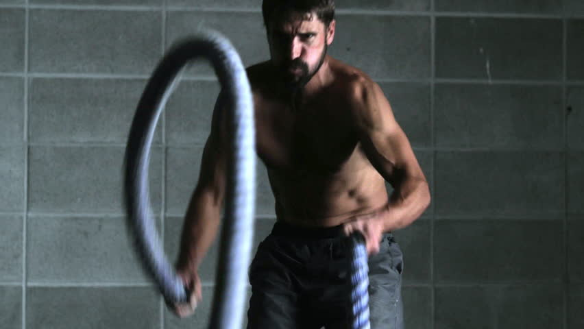 Athlete with Ropes