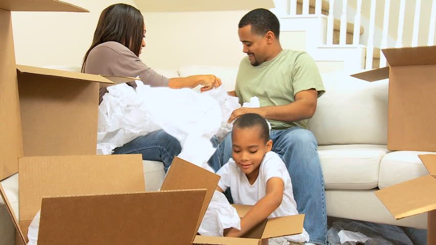 Image result for african american family moving empty room