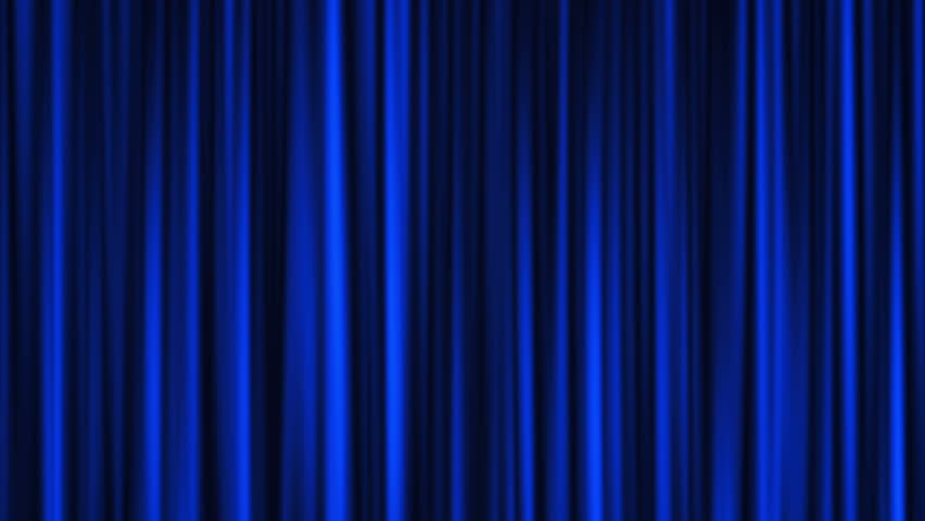 Blue Theater Curtain Stock Footage Video - Shutterstock