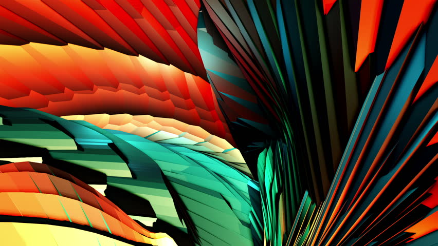 Organic Low Poly Patterns. Complex geometries flow smoothly, seamlessly. A lot of colors and nice lighting. Ideal to create chilling atmospheres. Combine then and use them with kaleidoscope effects. | Shutterstock HD Video #12832616