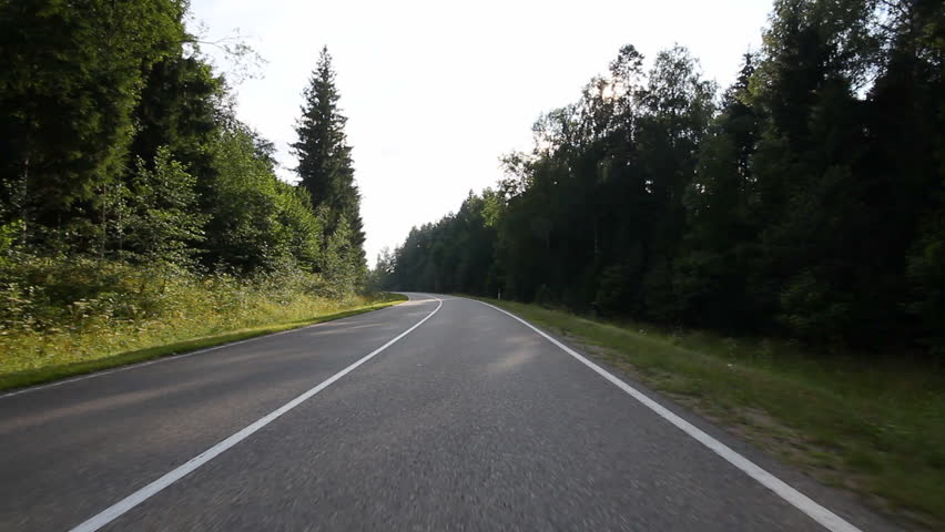 Driving on country road