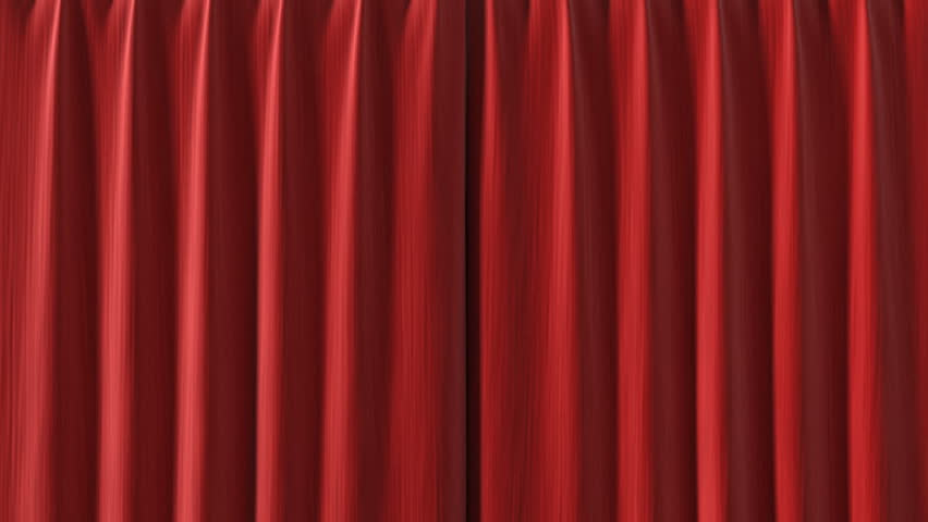 Red Curtain opening in high definition with alpha mask. Useful for presentations.