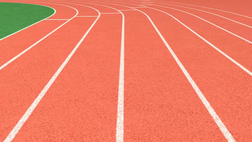 Athletics stadium running track, sport field – looping