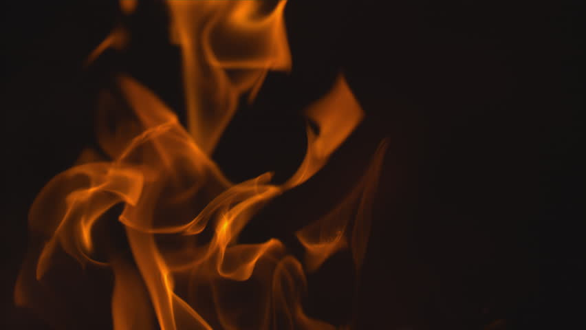 FLAMES SLOW MOTION MACRO - gorgeous closeup of flames burning on a black background shot on a phantom flex 4k at 1000 frames per second