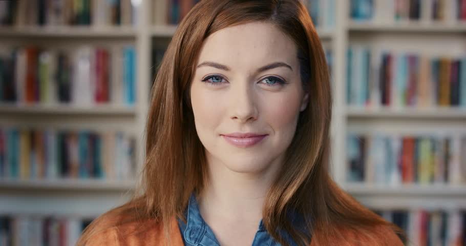 Portrait of Beautiful caucasian brunette woman laughing | Shutterstock HD Video #13165172
