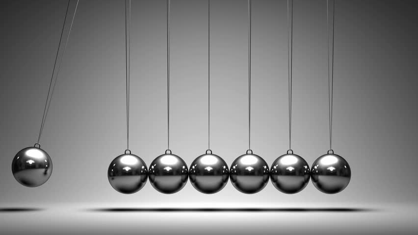 Time Lapse Animation As Newton's Cradle Stock Footage ...