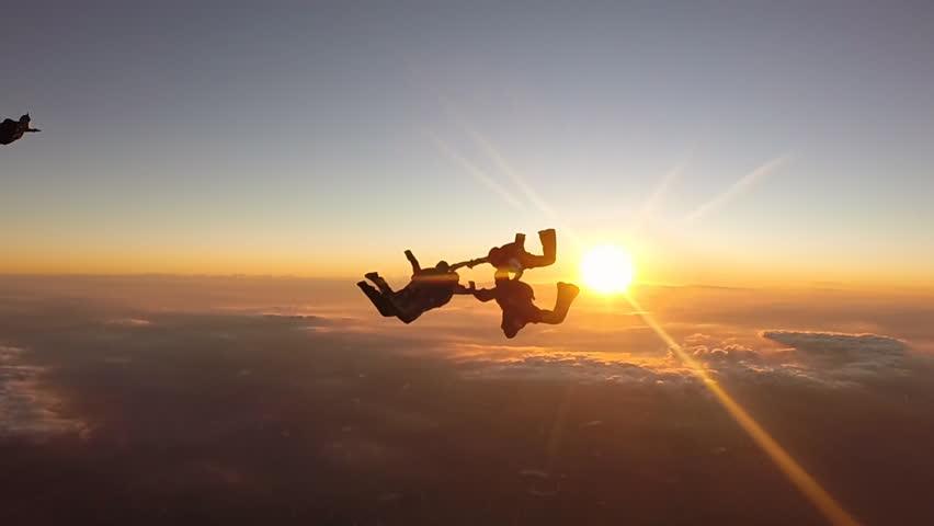 skydiving wallpaper sunset free - photo #3