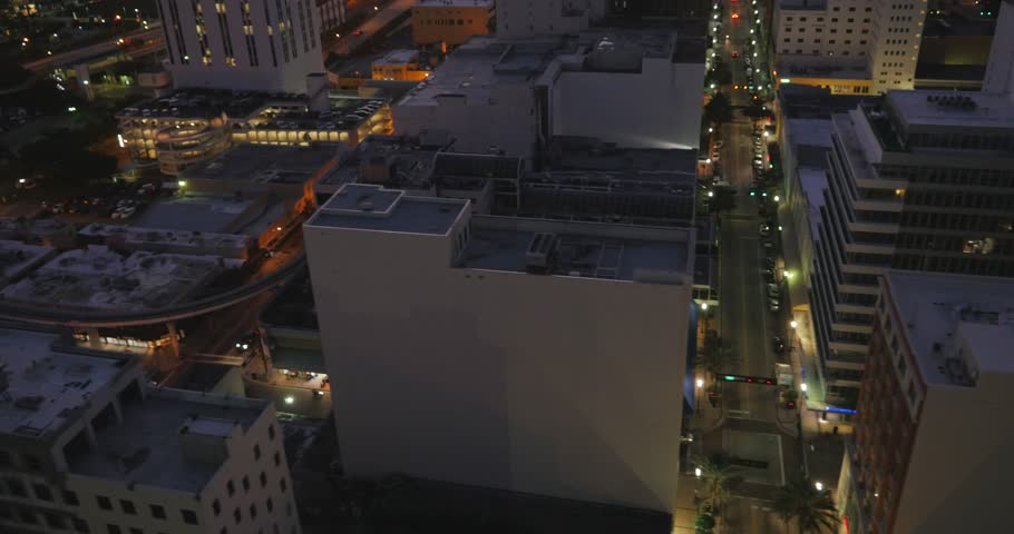 Aerial Shot of Downtown Miami ( Miami, FL- October 2015)