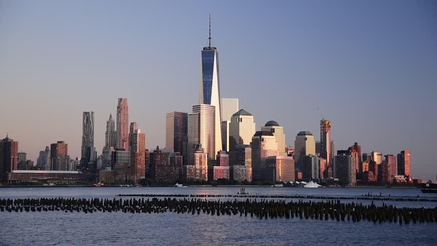 USA, New York, Lower Manhattan, Hudson River, Freedom Tower | Shutterstock HD Video #13473764