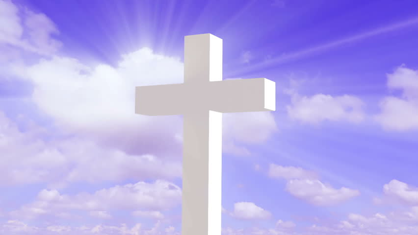 Inspirational transparent cross in front of time lapse of for Lits definition