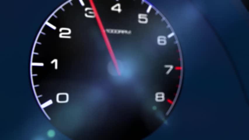 Car tachometer, 3Danimated