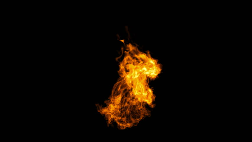 Realistic Fire with alpha, Full HD. Fire Animation